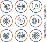 dartboard icons set. set of 9... | Shutterstock .eps vector #652380391