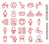 manager icons set. set of 25... | Shutterstock .eps vector #652381405