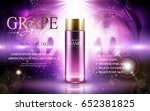 grape seed skin care oil... | Shutterstock .eps vector #652381825