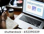application digital social... | Shutterstock . vector #652390339