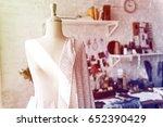 fashion designer workspace with