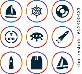 ship icons set. set of 9 ship... | Shutterstock .eps vector #652400431