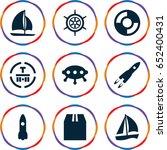 ship icons set. set of 9 ship... | Shutterstock .eps vector #652400431