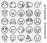 emoticon icons set. set of 25... | Shutterstock .eps vector #652404145