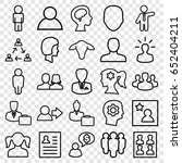 profile icons set. set of 25... | Shutterstock .eps vector #652404211