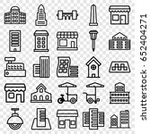 city icons set. set of 25 city... | Shutterstock .eps vector #652404271