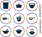 soup icons set. set of 9 soup... | Shutterstock .eps vector #652405297