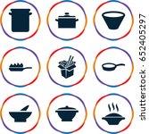 soup icons set. set of 9 soup... | Shutterstock .eps vector #652405297