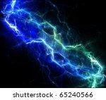 blue lightnings | Shutterstock . vector #65240566