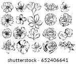 flower set | Shutterstock . vector #652406641