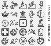 success icons set. set of 25... | Shutterstock .eps vector #652407337