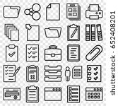 document icons set. set of 25... | Shutterstock .eps vector #652408201