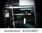 Small photo of Card reader module unit for atm machine show the rear mechanical part inside.