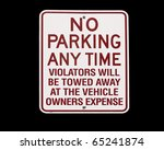 No Parking Anytime Sign Agains...