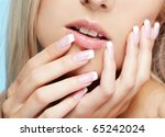close up portrait of beautiful... | Shutterstock . vector #65242024