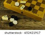 various board games chess board ... | Shutterstock . vector #652421917
