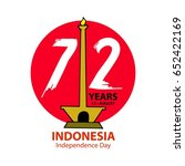 indonesia independence day... | Shutterstock .eps vector #652422169