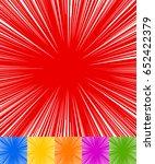 starburst  sunburst  rays of... | Shutterstock .eps vector #652422379