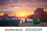 logistics and transportation of ... | Shutterstock . vector #652432249