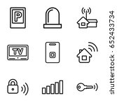signal icons set. set of 9... | Shutterstock .eps vector #652433734
