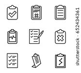 clipboard icons set. set of 9... | Shutterstock .eps vector #652434361