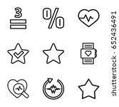 Rate Icons Set. Set Of 9 Rate...