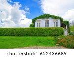 outdoor green fence. blue sky.... | Shutterstock . vector #652436689