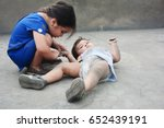 dirty poor latin siblings | Shutterstock . vector #652439191