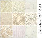 nine different pastel carpet... | Shutterstock . vector #652451551