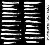 ink vector brush strokes set.... | Shutterstock .eps vector #652453237