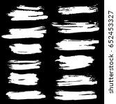 ink vector brush strokes set....   Shutterstock .eps vector #652453327