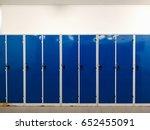large column blue lockers in... | Shutterstock . vector #652455091