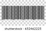 barcode icon. vector... | Shutterstock .eps vector #652462225