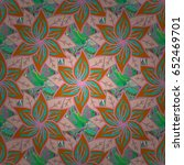 pretty floral print with small... | Shutterstock .eps vector #652469701