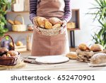 female hands holding freshly... | Shutterstock . vector #652470901
