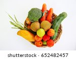 composition of fruits and... | Shutterstock . vector #652482457