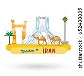 flat design  iran's landmarks...
