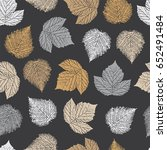 seamless pattern with forest... | Shutterstock .eps vector #652491484