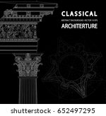 classical architecture.... | Shutterstock .eps vector #652497295