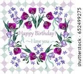 greeting card happy birthday.... | Shutterstock .eps vector #652499275