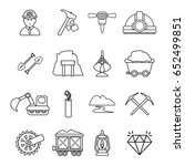 mining minerals business icons... | Shutterstock .eps vector #652499851