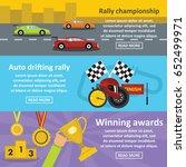 racing auto banner horizontal... | Shutterstock .eps vector #652499971