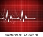 cardiogram illustration with... | Shutterstock . vector #65250478