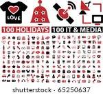 200 holidays   media signs.... | Shutterstock .eps vector #65250637