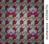 seamless exotic pattern with... | Shutterstock .eps vector #652506751