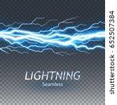 seamless asset of lightening... | Shutterstock .eps vector #652507384