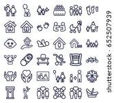 family icons set. set of 36... | Shutterstock .eps vector #652507939