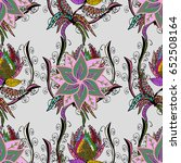 vector seamless colorful floral ... | Shutterstock .eps vector #652508164