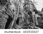 architecture of old buddhist in ...   Shutterstock . vector #652510327