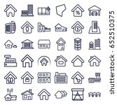 real icons set. set of 36 real... | Shutterstock .eps vector #652510375